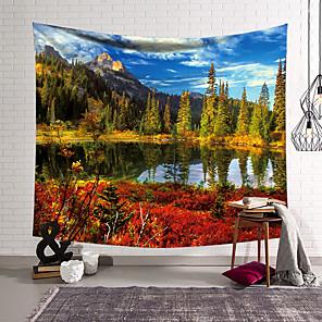 זול -שטיח קיר נוף אמנות תפאורה שמיכת וילון תלוי חדר שינה בית סלון קישוט יער פוליאסטר
