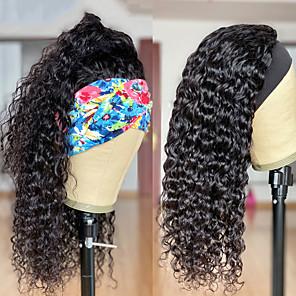 economico -parrucche della fascia dell'onda dell'acqua parrucche dei capelli umani parrucca piena fatta a macchina attaccatura dei capelli naturale per le donne parrucca sciarpa capelli brasiliani