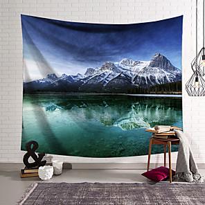 voordelige -landschap wandtapijten art decor deken gordijn opknoping thuis slaapkamer woonkamer decoratie polyester meer mountain