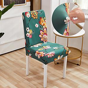 זול -אהבה בלון הדפסה גיאומטרית 1 יחידות כיסוי כיסא לחדר אוכל כיסאות הדפסת כיסאות גב גבוה למסיבת סלון קישוט חג המולד
