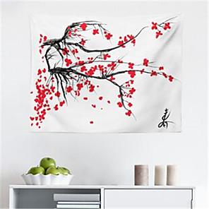 voordelige -Japanse inkt schilderij stijl wandtapijten art decor deken gordijn opknoping thuis slaapkamer woonkamer decoratie polyester