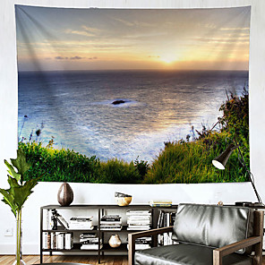voordelige -landschap wandtapijten art decor deken gordijn opknoping thuis slaapkamer woonkamer decoratie oceaan
