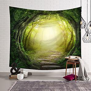 저렴한 -판타지 풍경 벽 태피스트리 아트 장식 담요 커튼 교수형 홈 침실 거실 장식 폴리에스터