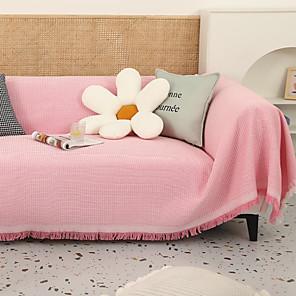 זול -שמיכת ספה כורסה ספת חתך ספה כורסה אוהבת מושב 4 או 3 מושבים בצורת l רגיל מוצק רך עמיד