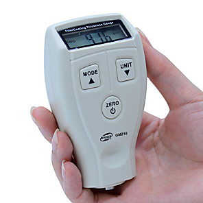 economico -benetech gm211 0-1500um misuratore di spessore del rivestimento ad alta precisione misuratore di spessore del composto automobilistico magnetico / non magnetico per auto