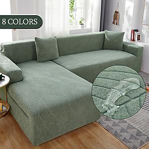 levne -roztahovací potah na pohovku slipcover žakárové elastické rozkládací křeslo křeslo loveseat 4 nebo 4 nebo 3 sedadlo l tvar šedá hladký pevný měkký odolný omyvatelný