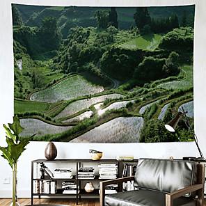 זול -שטיח קיר נוף תפאורה אמנות שמיכת וילון תלוי בית חדר שינה סלון קישוט יער פוליאסטר
