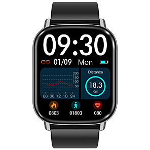 halpa -H01 Sukupuolineutraali Älykello Bluetooth Sykemittari Verenpaineen mittaus Poltetut kalorit Tiedot Viesti-ohjain Sekunttikello Askelmittari Puhelumuistutus Sleep Tracker sedentaarisia Muistutus
