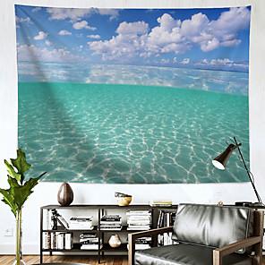 저렴한 -바다 벽 태피스트리 아트 장식 담요 커튼 교수형 홈 침실 거실 장식 폴리에스터