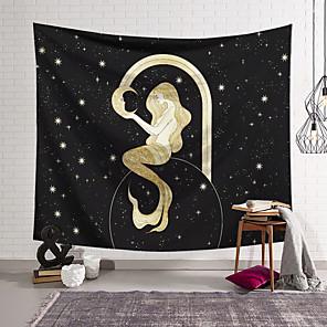 זול -שטיח קיר בתולת ים וילון שמיכת תפאורה תליית וילון סלון חדר שינה ביתי פוליאסטר