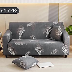 preiswerte -Stretch Sofabezug Schonbezug elastischer Schnittsofa Sessel Loveseat 4 oder 4 oder 3 Sitzer L-Form graue Blumenblume weich strapazierfähig waschbar