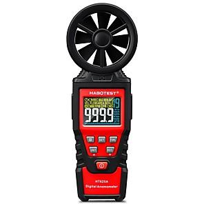 저렴한 -habotest ht625a 핸드 헬드 컬러 디스플레이 디지털 풍속계 풍속 게이지 미터 공기량 속도 스케일 최대 최소 평균 측정