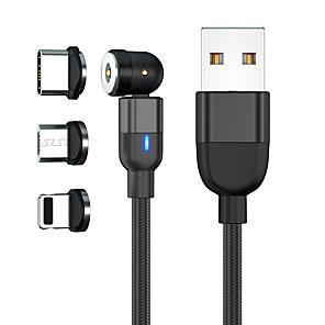 abordables -Micro USB Lightning USB C Câble Tout-en-un Tressé Câble de Charge 2 A 2.0m (6.5ft) 1.0m (3ft) Nylon Alliage aluminium Pour Samsung Xiaomi Huawei Accessoire de Téléphone