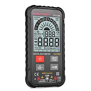 abordables -Habotest multimètres numériques portables intelligents amp ohm hz capacité testeur de batterie voltmètre plage automatique testeur de courant de tension