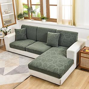 ราคาถูก -stretch sofa seat cushion cover slipcover elastic couch armchair loveseat 4 or 3 seater solid jacquard ความยืดหยุ่นสูง four seasons universal super soft fabric retro hot sale