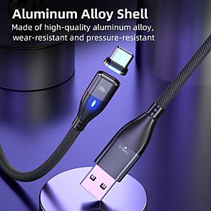 abordables -Micro USB Lightning USB C Câble Tout-en-un Tressé LED 5 A 2.0m (6.5ft) 1.0m (3ft) Nylon Alliage aluminium Pour Samsung Xiaomi Huawei Accessoire de Téléphone