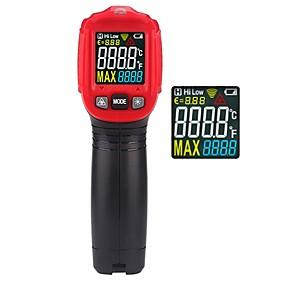 저렴한 -ht650a 디지털 산업 적외선 온도계 레이저 온도 측정기 비접촉 고온계 ir termometro 컬러 lcd 라이트 알람