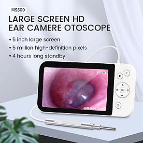 abordables -Caméra d'oreille d'otoscope numérique avec écran 5 IPS 1080P 3.9mm portée d'oreille avec 6 lumières LED outil de retrait de cire d'oreille carte SD de 32 go