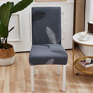 ราคาถูก -ผ้าคลุมเก้าอี้ห้องครัวแบบยืดได้สำหรับงานเลี้ยงอาหารค่ำการ์ตูน Feather Four Seasons Universal Super Soft ผ้า Retro ขายร้อน