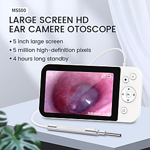 お買い得  -5IPSスクリーン付きデジタル耳鏡イヤーカメラ1080P6つのLEDライト付き3.9mmイヤースコープイヤーワックス除去ツール32GBSDカード