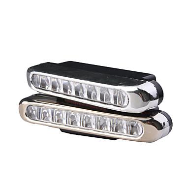 Lumini Mașină Albe pentru Condus pe timp de Zi 4W 8-LED (2 buc/pachet)