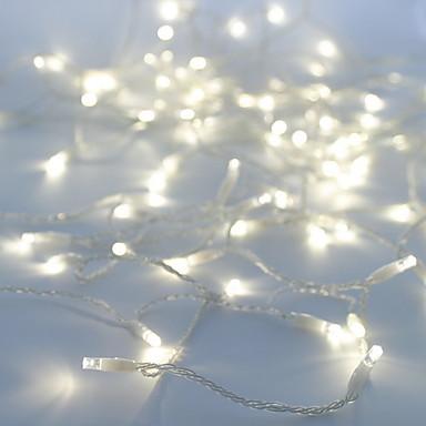 10m Fâșii de Iluminat 100 LED-uri Dip Led Alb Petrecere / Decorativ / De Legat 100-240 V 1 buc