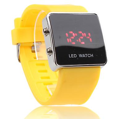 c914a74c6ce unisex LED digitální čtvercové pouzdro žluté silikonového pásku náramkové  hodinky 194782 2019 – €4.99