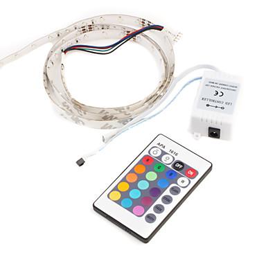 1m Fâșii De Becuri LEd Flexibile / Fâșii RGB 30 LED-uri 5050 SMD RGB Telecomandă / Schimbare - Culoare 12 V