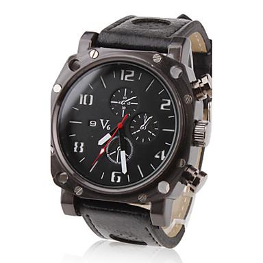 V6 Bărbați Ceas Militar Ceas de Mână Quartz Quartz Japonez Piele PU Matlasată Negru cald Vânzare Analog Charm - Negru Doi ani Durată de Viaţă Baterie / Mitsubishi LR626