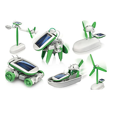 cheap Special Deals-6 In 1 Robot Toy Car Solar Powered Toy Solar Powered Plastic ABS Boys' Girls' Toy Gift