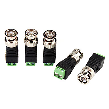 Conectori for CCTV Security Camera BNC Plug Connector Adapter Video Transceiver 5Pcs pentru Securitate sisteme 4.2*1.5*1.5cm 0.06kg