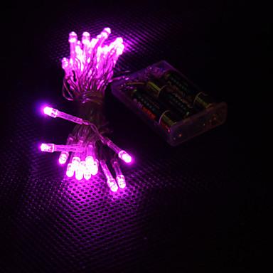 3M Fâșii de Iluminat 30 LED-uri Dip Led Roz Petrecere / Decorativ / Nuntă Baterii AA alimentate 1 buc / IP44