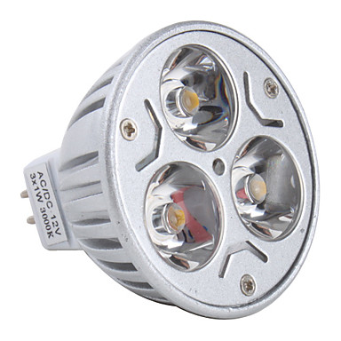 3 W Spoturi LED 3000 lm GU5.3(MR16) MR16 3 LED-uri de margele LED Putere Mare Alb Cald 12 V