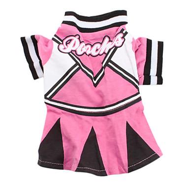 Câine Tricou Rochii Îmbrăcăminte Câini Respirabil Roz Costume Bumbac Literă & Număr Casul / Zilnic XS S M L
