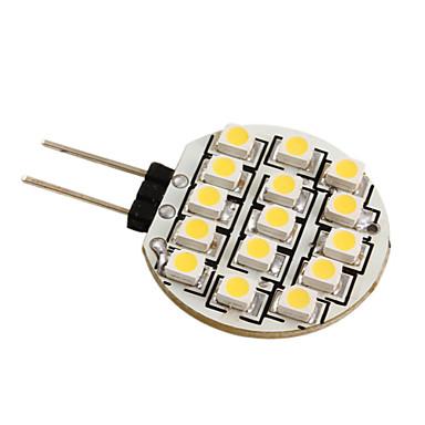 g4 3528 SMD 15-LED 0.36w cald bec alb pentru masina (12V DC)