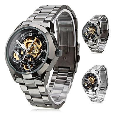 SHENHUA Pánské Náramkové hodinky mechanické hodinky Automatické natahování  S dutým gravírováním Nerez Kapela Luxusní Černá Stříbro 333497 2019 – €22.99 eb51577eb8d