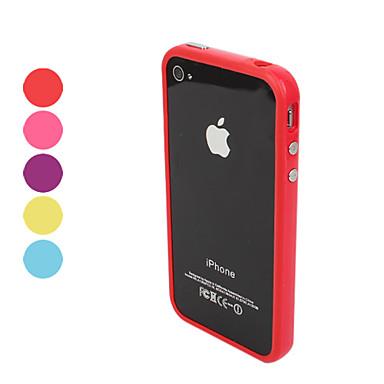 Недорогие Кейсы для iPhone-Кейс для Назначение iPhone 4/4S / Apple iPhone 4s / 4 Бампер Мягкий ТПУ