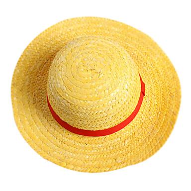 Pălărie / Șapcă Inspirat de One Piece Monkey D. Luffy Anime Accesorii Cosplay Șapcă Pălărie Funie de paie Bărbați fierbinte Costume de Halloween