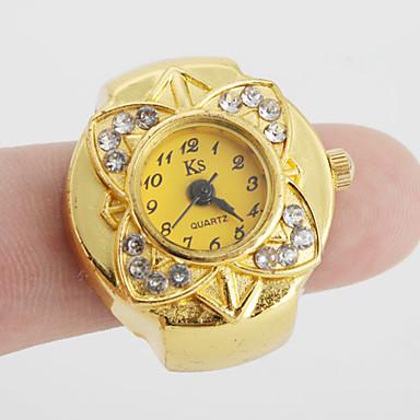 نسائي ساعة حلقة ساعة ذهبية ياباني كوارتز ذهبي ساعة كاجوال سيدات زهر عتيق - ذهبي سنة واحدة عمر البطارية / SSUO SR626SW