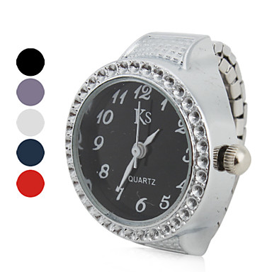 نسائي ساعة حلقة ياباني كوارتز فضة ساعة كاجوال مماثل سيدات مضيئ موضة - أرجواني أحمر أزرق سنة واحدة عمر البطارية / SSUO LR626