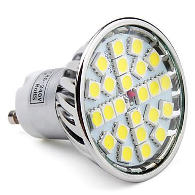 1 buc 3.5 W 250LM GU10 Spoturi LED 24 LED-uri de margele SMD 5050 Alb Cald / Alb Rece / Alb Natural 85-265 V