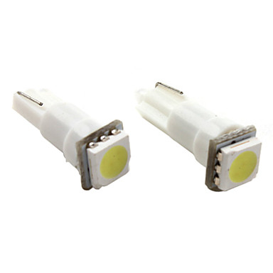 T5 1 * 5050 SMD LED alb lampa de semnalizare masina