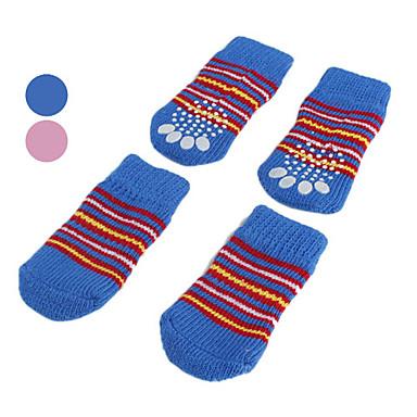 povoljno Odjeća za psa i dodaci-Pas Čarape Ležerno / za svaki dan Ugrijati Dungi Plava Pink Za kućne ljubimce / Zima