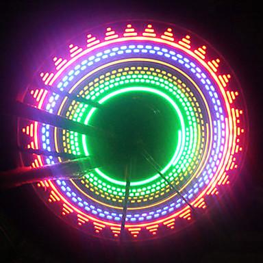 olcso Sport & túra-LED Kerékpár világítás szelepsapkát villogó fények kerék fények Kerékpár szórás lámpák Hegyi biciklizés Kerékpár Kerékpározás Vízálló Biztonság Hordozható Könnyű felhelyezés AAA Kerékpározás / IPX-4