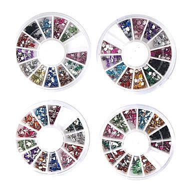20 pcs Nail Art Kit Bijuterie unghii nail art pedichiura si manichiura Zilnic Abstract / Modă / Unghiul de bijuterii