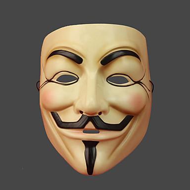 ieftine Rechizite Petrecere-Mască Inspirat de V for Vendetta Bej Crăciun Halloween Carnaval Bărbați Pentru femei