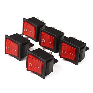 interrupteurs bascule 4 pin avec t moin lumineux rouge 5 piece pack de 430345 2018. Black Bedroom Furniture Sets. Home Design Ideas