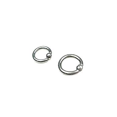 olcso Kisporc fülpiercing-Női Testékszer Mell piercing / Fül piercing hölgyek Rozsdamentes acél / Ezüstözött Jelmez ékszerek Kompatibilitás Napi / Hétköznapi 1.4*1.4*0.3 cm Nyár