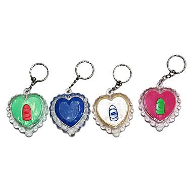 în aer liber lanț cheie mini și lanterna inima iubitoare (culori aleatorii)