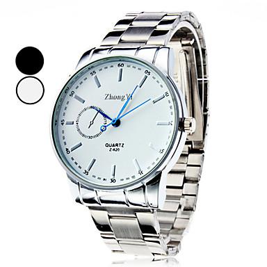 Bărbați Ceas de Mână Quartz Argint Ceas Casual Analog Charm Clasic Ceas Elegant - Negru Alb